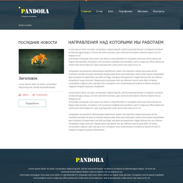 """Pandora"" Креативний дизайн"