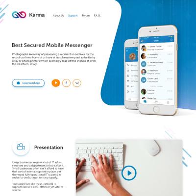 Karma Messenger – Сайт мобільного додатку